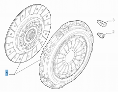 Clutch kit (clutch disc and pressure plate) for Fiat and Fiat Professional