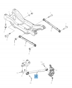 Left control arm for Jeep Compass