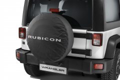 Spare tyre cover with Rubicon logo