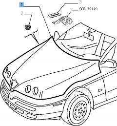 Hood for Alfa Romeo GTV and Spider