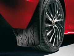 Rear mudflaps splash guards with print design for Alfa Romeo Giulietta