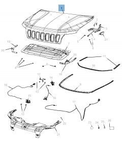 Bonnet for Jeep Cherokee