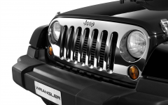 Chrome front grille for Jeep Wrangler