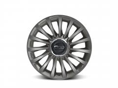 Set of 17'' ecoreflex diamond design grey alloy wheels