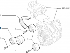 Adjustable tensioner for Fiat Professional Scudo
